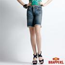 BRAPPERS 女款 女垮褲系列-寬鬆五分褲-復古藍