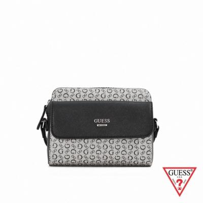 GUESS-女包-滿版LOGO肩背小方包-黑 原價2290