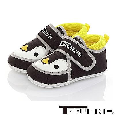 TOPUONE童鞋 可愛企鵝輕量減壓寶寶學步鞋-黑