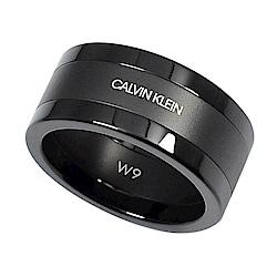 Calvin Klein CK strong騎士系列簡約黑色戒指