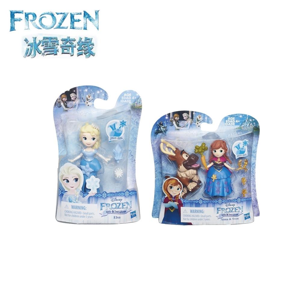 冰雪奇緣-迷你公主人物蒐藏組(艾莎+安娜與小斯) Elsa Anna