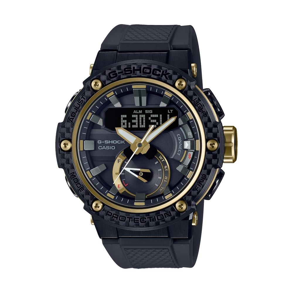 CASIO卡西歐 G-SHOCK 碳纖維錶圈 GST-B200X-1A9_49.2mm
