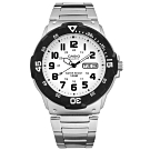 CASIO 卡西歐 潛水風不鏽鋼手錶-白色MRW-200HD-7B 43mm