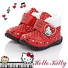 HelloKitty 保暖絨毛輕量減壓抗菌防臭高筒雪靴童鞋-紅