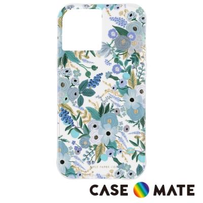 美國 Case-Mate x Rifle Paper Co. 限量聯名款 iPhone 12 mini 防摔抗菌手機保護殼 - 花園派對 - 藍