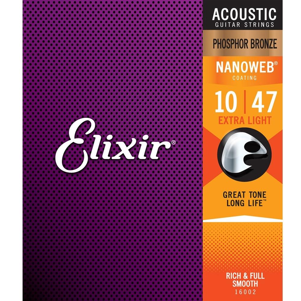 ELIXIR EXXF-16002 Nanoweb 磷青銅民謠吉他套弦
