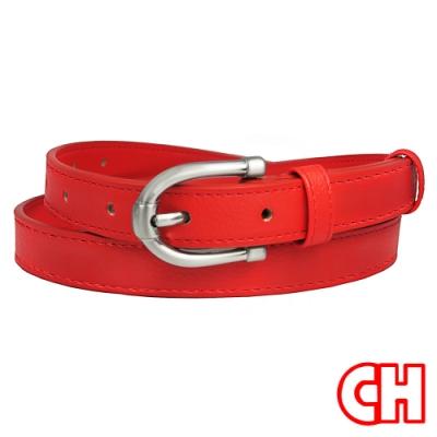 CH-BELT熱情火紅細版曲線流行女生腰帶皮帶(紅)