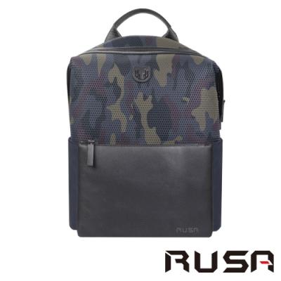 RUSA 14吋後背包(RS-516/迷彩藍)