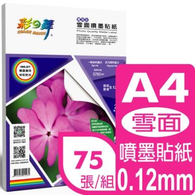 彩之舞 0.12mm A4 雪面噴墨貼紙 HY-A45*3包