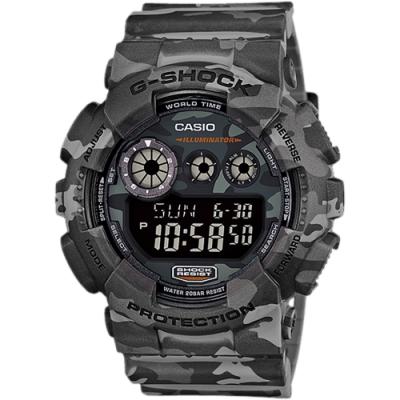 CASIO 卡西歐 G-SHOCK 叢林迷彩手錶(GD-120CM-8)