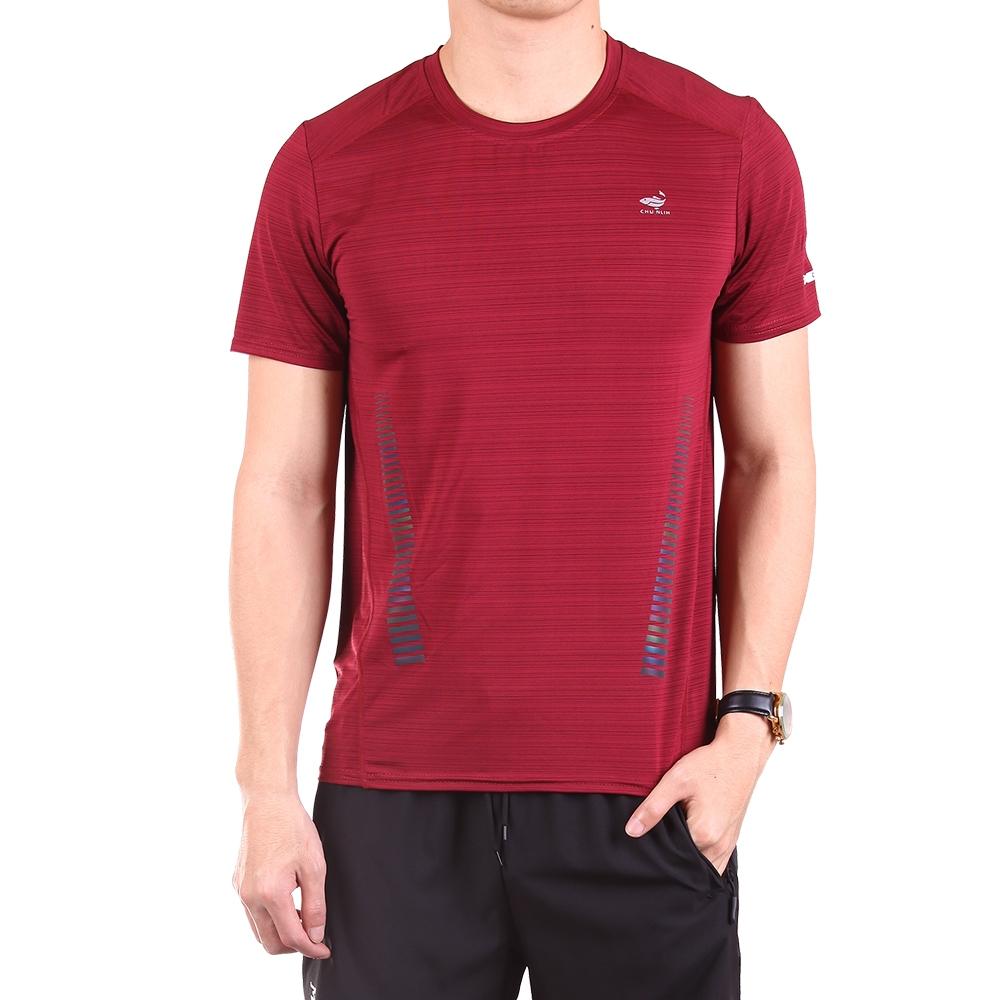 CS衣舖 冰鋒衣 機能涼感速乾短袖T恤 (B款-暗紅)