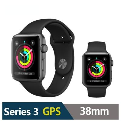 Apple Watch S3 38mm 鋁金屬錶殼搭運動型錶帶(GPS版)