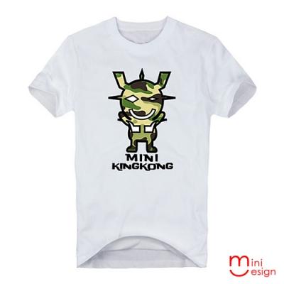(男款)迷彩MINI KING KONG潮流設計短T 三色-Minidesign