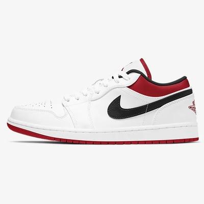 NIKE AIR JORDAN 1 LOW 男籃球鞋-白-553558118