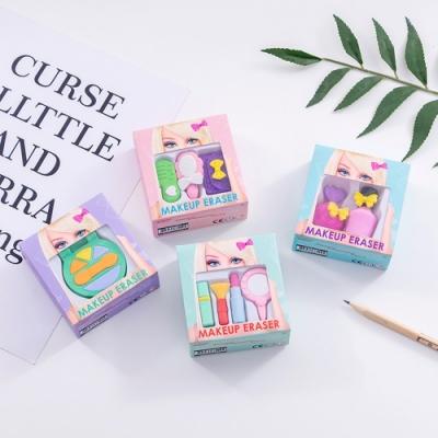 Baby童衣 芭比化妝盒造型橡皮擦 仿真化妝品造型擦布組 幼兒園兒童畢業交換禮物 88499