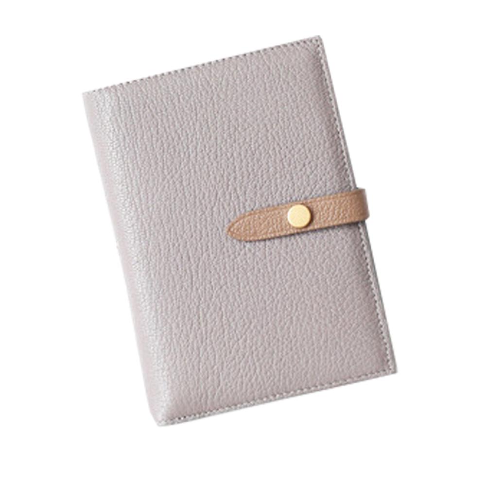 GT0018GY歐美頭層羊皮搭扣護照包/證件包/皮夾灰色