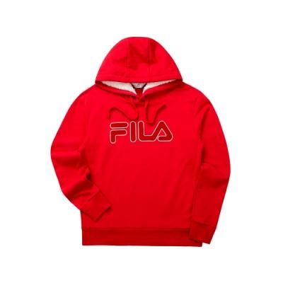 FILA 長袖連帽T恤-紅色 1TET-5467-RD