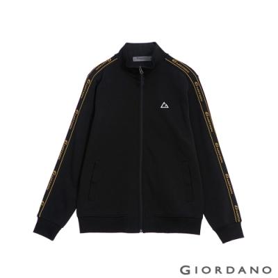 GIORDANO 男裝G-MOTION品牌LOGO運動外套 - 31 標誌黑