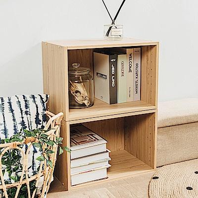 樂嫚妮 DIY 日式 收納櫃/空櫃/書櫃-楓木色3入組-42X28.2X28.8cm