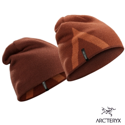 Arcteryx 始祖鳥 Crest 雙面 保暖 羊毛 針織毛帽 度假褐/歡樂橘