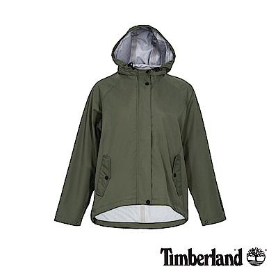 Timberland 女款葡萄葉綠色連帽防水短版派克外套|B3807