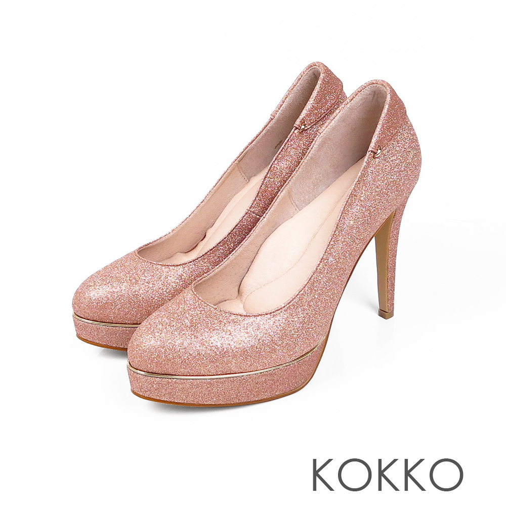 KOKKO - 女王的盛宴炫燦手工超高跟鞋-芭比粉