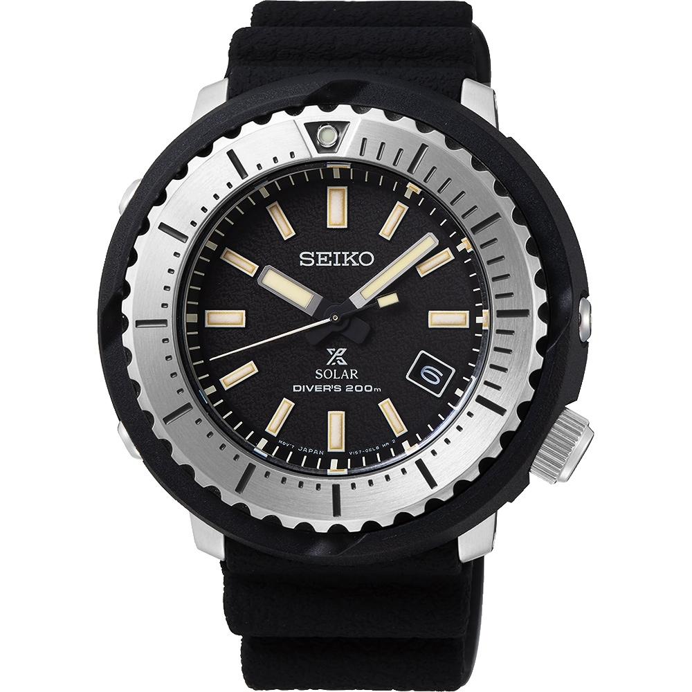 SEIKO 精工 PROSPEX 小鮪魚太陽能潛水錶(SNE541P1)