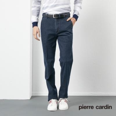 Pierre Cardin皮爾卡登 男裝  平口牛仔休閒長褲-藍色(5205824-36)