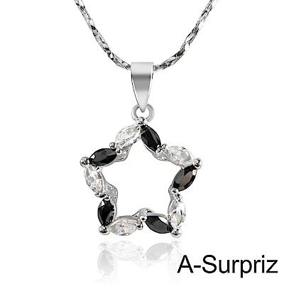 A-Surpriz 星空戀曲鋯石項鍊