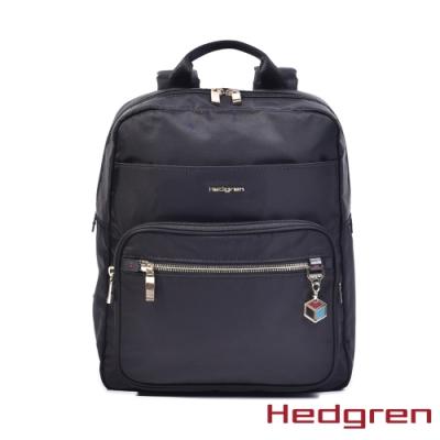 【Hedgren】CHARM多隔層 後背包-烏黑