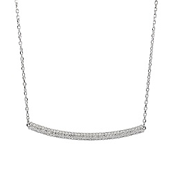 【福利品】SWAROVSKI 施華洛世奇 STONE CHOKER璀璨水晶銀色項鍊