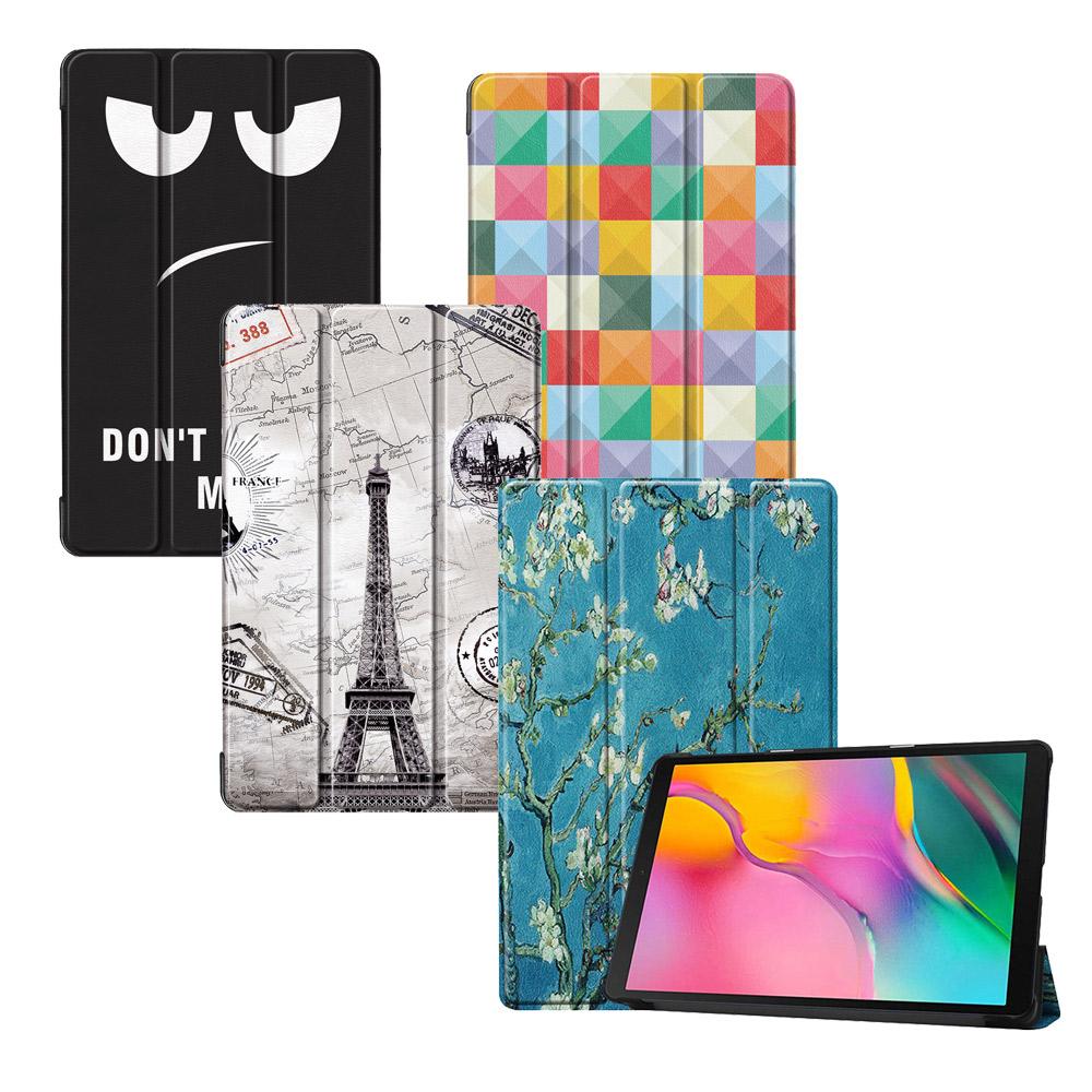 VXTRA 三星Galaxy Tab A 10.1吋 2019 文創彩繪平板皮套