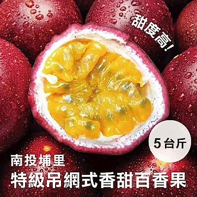 【果之蔬】南投埔里大坪頂蜜糖吊網百香果 x5斤