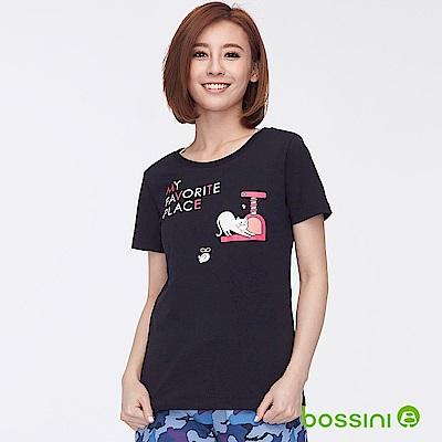 bossini女裝-印花短袖T恤33黑