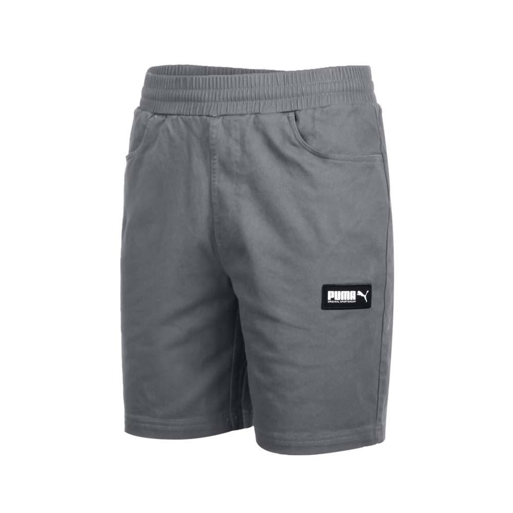 PUMA 男 基本系列8吋短褲 鐵灰黑白