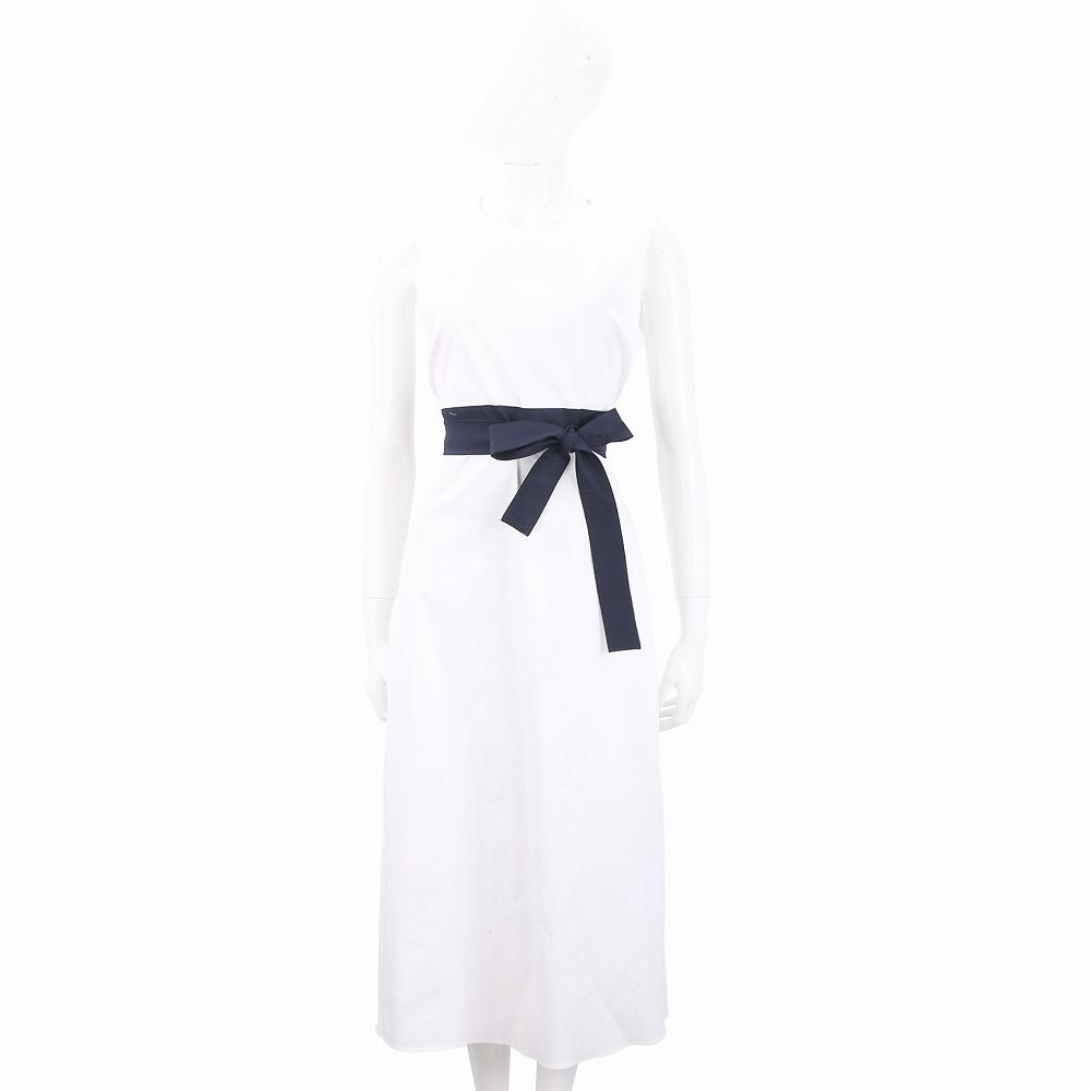 Max Mara-'S Max Mara 拼色繫帶白色無袖洋裝