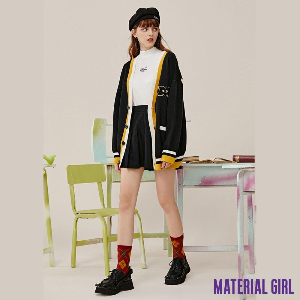 MATERIAL GIRL 怪獸大學撞色拼接針織衫【20冬季款】-11889