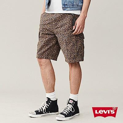 Levis 男款 豹紋工作短褲 兩側口袋
