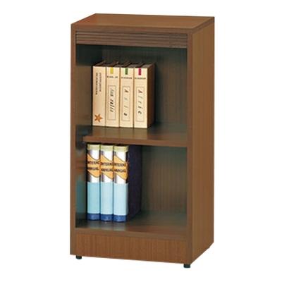 【文創集】強森  時尚1.3尺開放式二格書櫃/收納櫃(二色可選)-39.5x30.3x76cm免組
