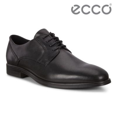 ECCO QUEENSTOWN 英倫商務正裝皮鞋 網路獨家 男鞋 黑色