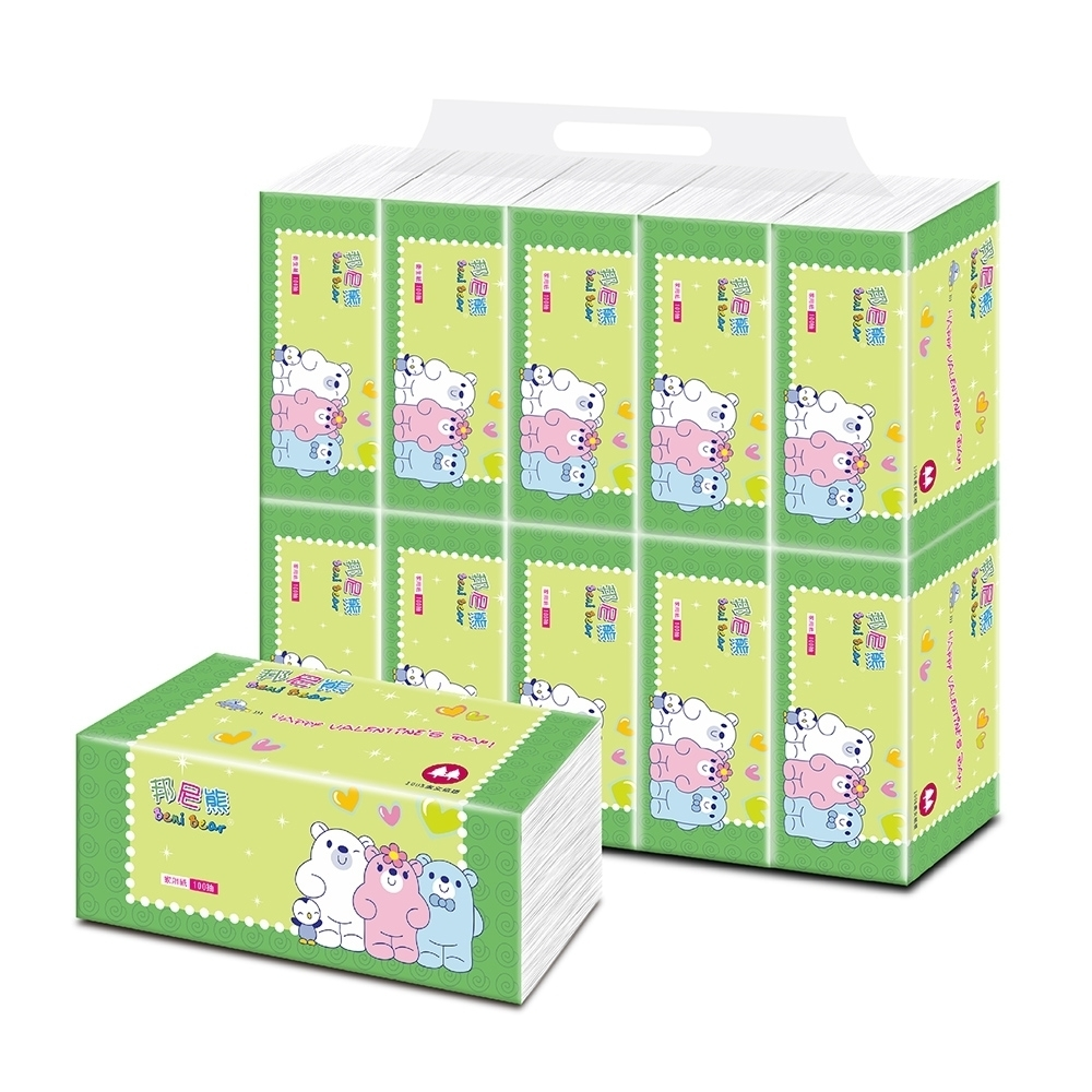 BeniBear邦尼熊抽取式家用紙100抽x60包/箱