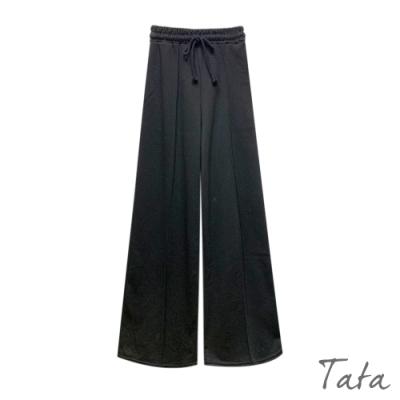 繫帶鬆緊腰運動寬褲 TATA-F