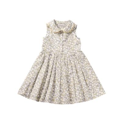 小雛菊 MARGUERITE 黃色圓領印花小洋裝