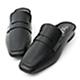 D+AF 隨性步調.經典款方頭平底穆勒鞋*黑 product thumbnail 2