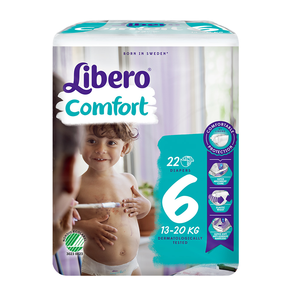 Libero麗貝樂 黏貼式嬰兒紙尿褲(6號XL)(22片/ 包)