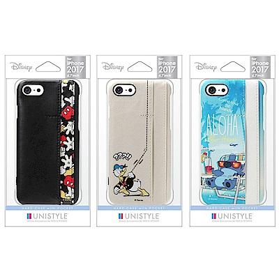 iPhone 8/7 迪士尼 皮革/插卡 三口袋 手機硬殼 4.7吋