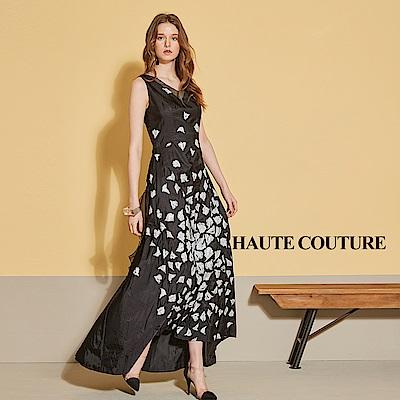 Haute Couture 高定系 精緻進口提花長禮服洋裝-閃耀黑