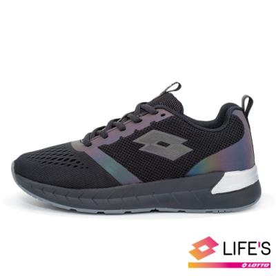 LOTTO 義大利 童 LIGHT FLY 輕量跑鞋 (黑)
