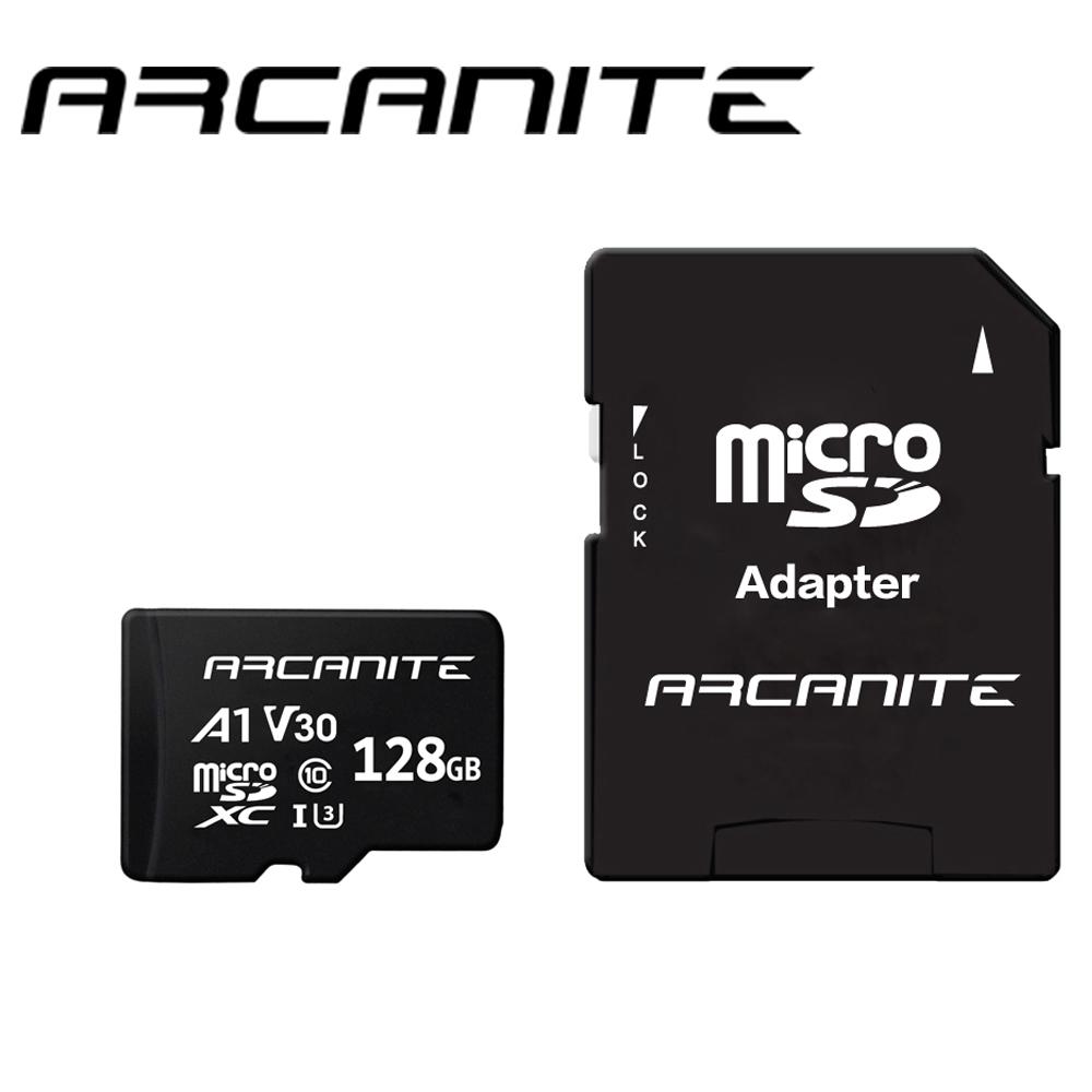 ARCANITE Micro SDXC U3 V30 A1 128GB 記憶卡