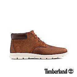 Timberland 男款棕色絨面革拼接休閒鞋|A1R12